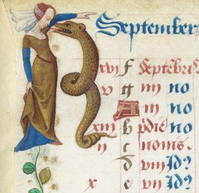 Святая Марта укрощает Тараску. Часослов Карла Ангулемского