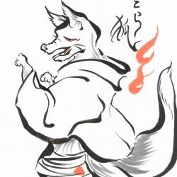 Отора-гицунэ. Автор рисунка Кацура