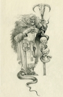 Баба Яга. Иллюстрация Романа Писарева