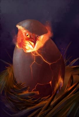 Яйцо феникса. Рисунок Ханны Бёвин