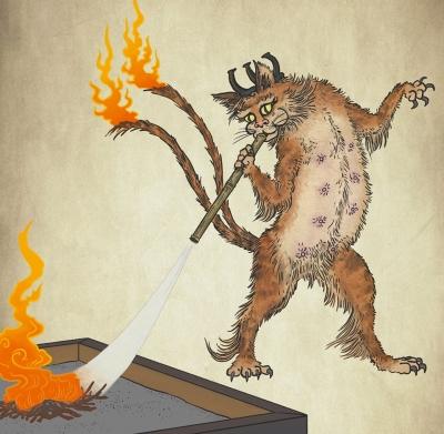 Готоку-нэко. Иллюстрация Мэтью Мэйера