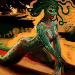 "Медуза. Рисунок Криса Гудвина (Chris ""Eselkunst"" Goodwin)"