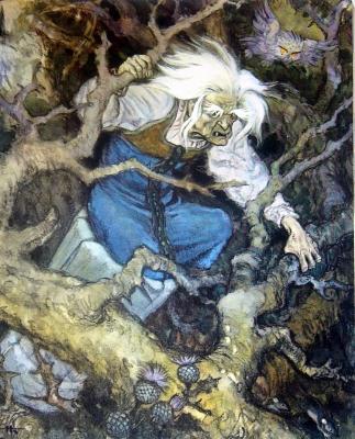 Баба Яга. Иллюстрация Николая Кочергина