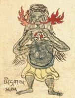 """Прета. Иллюстрация из компендиума """"Tibetan Worldly Spirits, Sprites & Ogres"""" (Item No.51341)"""