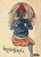 """Тхеуранг. Иллюстрация из компендиума """"Tibetan Worldly Spirits, Sprites & Ogres"""" (Item No.51347)"""