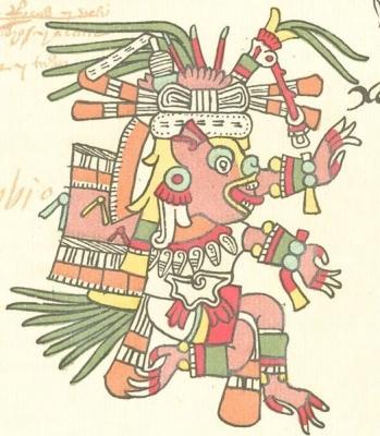 Шолотль. Изображение из кодекса Теллериано-Ременсис (Codex Telleriano-Remensis; Мексиканская рукопись 385)