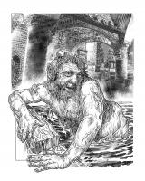 """Водяной. Иллюстрация Михаила Чернодедова к """"Подземелью Чёрного Замка"""" (2013)"""