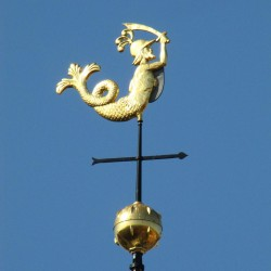Зеериттер на шпиле замка Маркизенхоф в Берген-оп-Зум