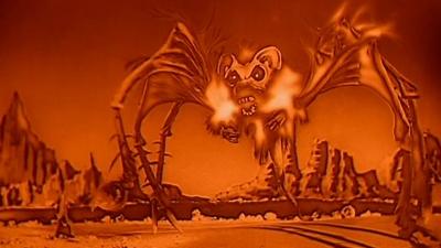 """Летучемыший крысопаук из фильма """"Сердитая красная планета"""" (1960)"""
