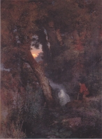 Блуждающий Огонь. Картина Арнольда Бёклина (1882)