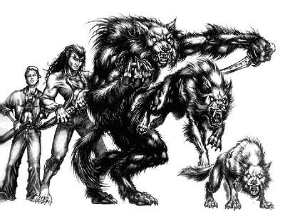 Вервольфы-гару. Изображение пяти форм