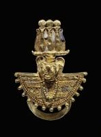 Подвеска с головой бога Апедемака из пирамиды Аманишакете в Мероэ, I век до н.э.