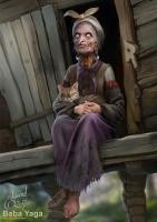 Баба Яга. Иллюстрация Эдуарда Халмурзаева