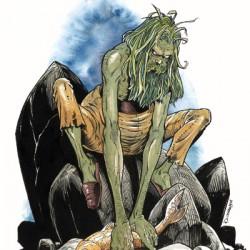 Водяной. Иллюстрация Дэниса МакКлейна для сеттинга D&D