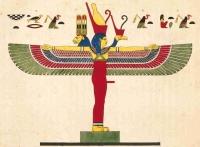 """Изображение синкретичного божества Mут-Сехмет-Бастет из """"Книги Мертвых"""""""