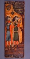 Святые Ахракс и Аугани в виду кинокефалов (коптская икона из Музея Коптского искусства в Каире)