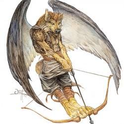 Гнолл-Marrash – летающая демоническая тварь из второй редакции D&D