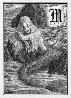 Морская дева (Mermaid). Иллюстрация Юлии Широниной (CoalRye)
