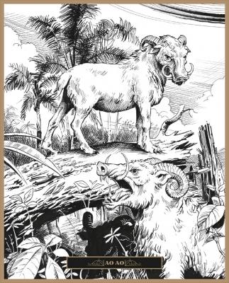 Ао Ао. Иллюстрация Клаудио Санчеса Вивероса