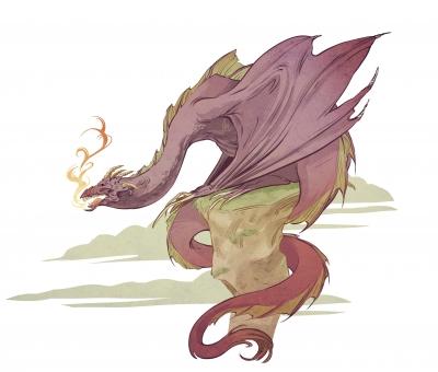 Валлийский дракон. Иллюстрация Александрии Хантингтон