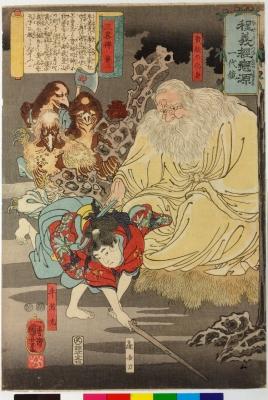 Тэнгу на рисунке Утагавы Куниёши