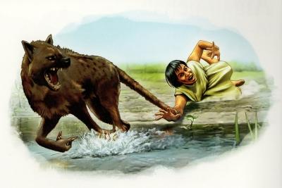 "Ауисотль. Иллюстрация из книги ""Fantastic Fearsome Beasts"""