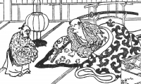 """Дзасики-вараси. Иллюстрация Уеды Акинари из сборника """"Истории лунного света и дождя"""""""