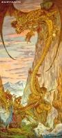 Рыцарь Улып и дракон Аждаха. Картина Александра Зарянина
