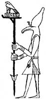 Изображение бога Аша на печати фараона Перибсена