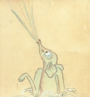 "Сихофуки. Рисунок неизвестного автора из свитка ""Бакэмоно-цукуси эмаки"" (1820)"