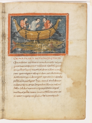 Моряки на ките. Рукопись Городской библиотеки Берна (Cod. 318, fol.16r)