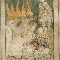 Видение ада Мамбром. Рукопись Бодлеянской библиотеки (MS. Bodley 614, fol. 048r.)