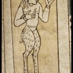 Сатир. Рукопись Бодлеянской библиотеки (MS. Bodley 614, fol. 051r.)