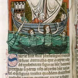 Сирены. (Рукопись Бодлеянской библиотеки. MS. Bodley 764, fol. 074v)