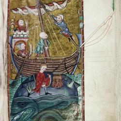 Аспидохелон. (Рукопись Бодлеянской библиотеки. MS. Bodley 764, fol. 107r)