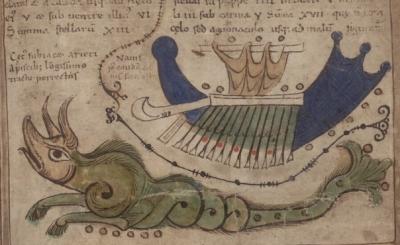 Созвездия Кита и Арго. Иллюстрация из Liber Floridus