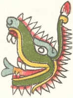 Сипактли. Изображение из Кодекса Маглиабечиано (Magliabechiano)