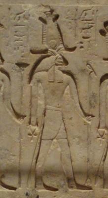 Бараноголовый бог Банебджадет. Фрагмет древнеегипетской стеллы