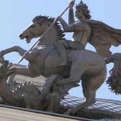Виленские Св. Георгий и дракон. Скульптурная композиция