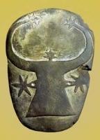 Символ богини Баты как звездной коровы