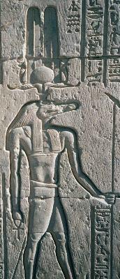 Себек на египетском барельефе