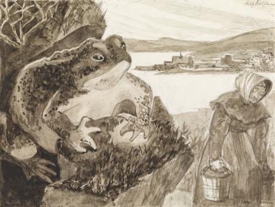 Король с горы Экеберг (Ekebergkongen). Иллюстрация Альфа Рольфсена (1934-1936)