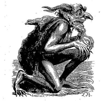 Демон Эвриномус. Гравюра Луи Бретона