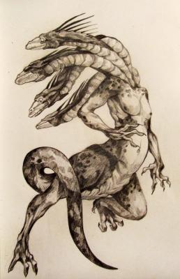 Чудо-Юдо. Рисунок Юлианы Фокс