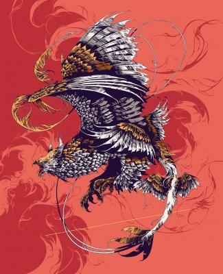 Громовая птица. Иллюстрация Ивана Беликова