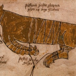 Фенрир на иллюстрации к манускрипту XVII века