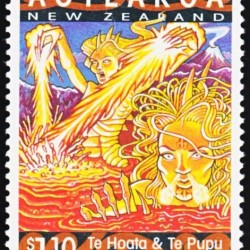 Те Хоата и Те Пупу на новозеландской марке