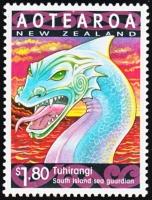 Дракон Тухиранги на новозеландской марке