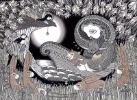 """Финфолк"". Рисунок тушью Аниты Инверэрити, 2012 год"