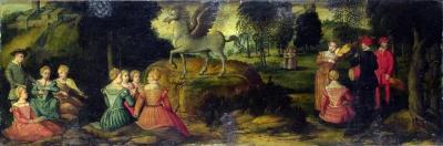 """""""Пегас и Музы"""". Картина Джироламо Романино, 1540-е годы"""